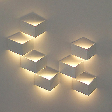 Modern Wall Lights Pics : 1W Modern LED Wall Light Artistic Cubic Metal Shade 1 PCS Included 635358 2016 ? $12.31