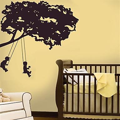 wall stickers bambine : Bambini in altalena albero Wall Sticker del 635683 2016 a $21.59