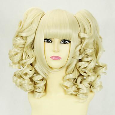 Blonde Curly Pigtails 45cm Princess Lolita Wig 658861 2017