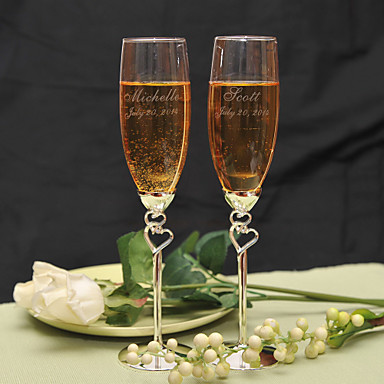 Graverte champagneglass