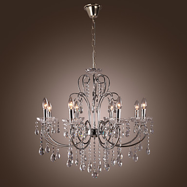 moderne kerze vorgestellten kristall kronleuchter mit 8 lichtern 358695 2016. Black Bedroom Furniture Sets. Home Design Ideas