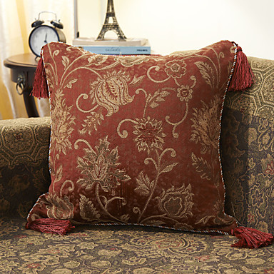 Jacquard Decorative Pillows : Cotton Floral Jacquard Decorative Pillow Cover 364779 2016 ? $11.69