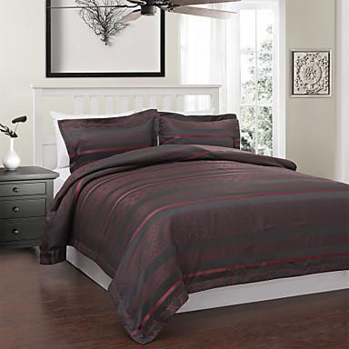 3 pi ces de style moderne rouge et jacquard housse de couette gris de 682413 2017. Black Bedroom Furniture Sets. Home Design Ideas