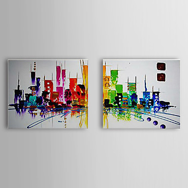 hand painted abstract abstract landscape horizontal. Black Bedroom Furniture Sets. Home Design Ideas