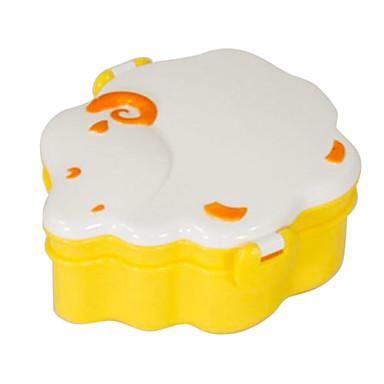 Овцы Шаблон 2 слоя Scoop Вилка питания Lunch Box (желтый) .