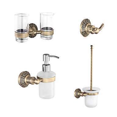 klassieke antieke koperen badkamer accessoire set met 24 inch ...