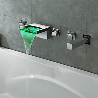 Termocromico finitura cromata led cascata rubinetto vasca - Rubinetto bagno cascata ...