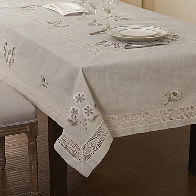 57 x 87 cl sicos lino jazm n flores bordado manteles - Manteles de mesa bordados ...