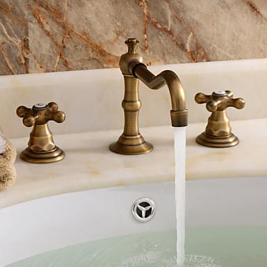 Rubinetti lavandino bagno tradizionale di ottone - Rubinetti bagno ottone ...