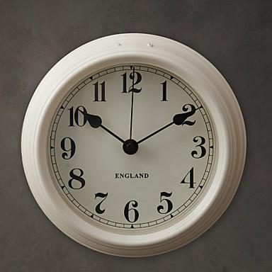 8h Modern White Metal Wall Clock Usd