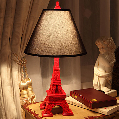 eiffel tower resin table lamp fabric shade 220 240v 747488 2016. Black Bedroom Furniture Sets. Home Design Ideas