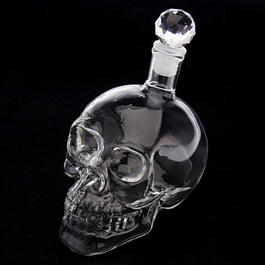 cristaux t te de mort bouteille de vin de forme boire de. Black Bedroom Furniture Sets. Home Design Ideas