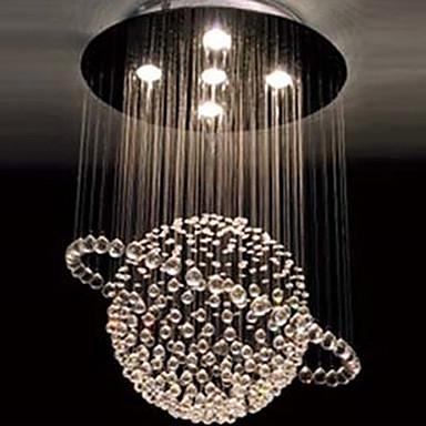 Modern Crystal 5 Light Chandelier In Tellurion Design