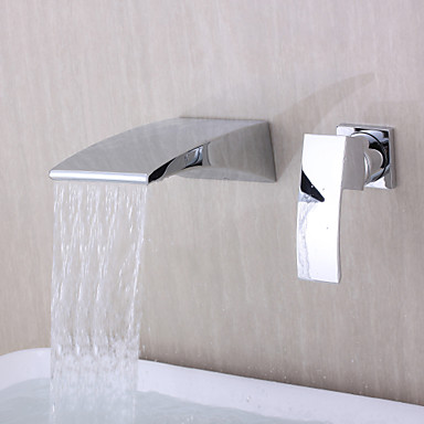 Contemporary Wall Mounted Waterfall with Ceramic Valve ...