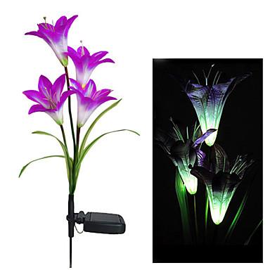 Color Changing Solar Light Decorative Garden Solar Lily