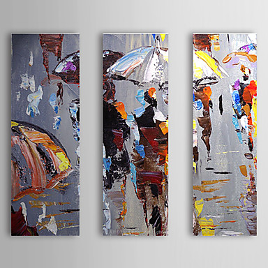 Hand painted abstract three panels canvas oil painting for home decoration 80 - Toile de peinture pas cher ...
