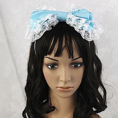 Handmade Sky Blue Bowknot del cordón blanco Sweet Lolita diadema - USD $ 14.99 - elnmff1382339854328