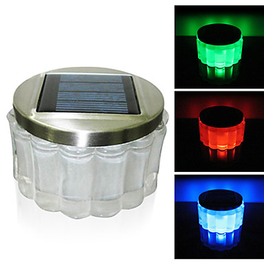 Crystal Rgb Color Changing Led Solar Powered Garden Light
