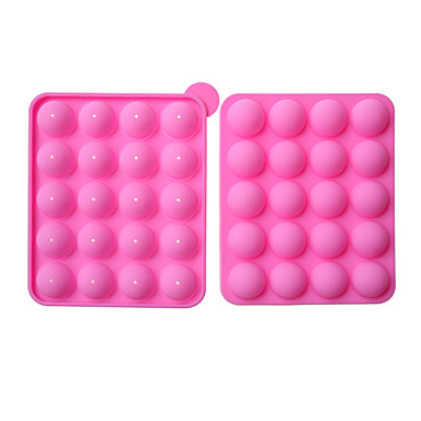silicone non stick cake pop set mold bake ware 779956 2016. Black Bedroom Furniture Sets. Home Design Ideas