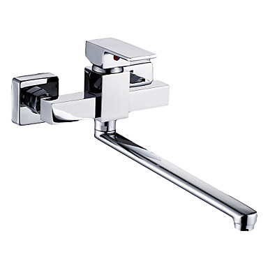 Contemporary Standard Spout Wall Mounted Rotatable with