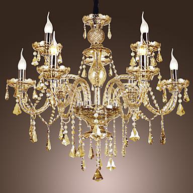 lampadari di lusso : di lusso 9 luce lampadario di cristallo con candelabri a forma di ...