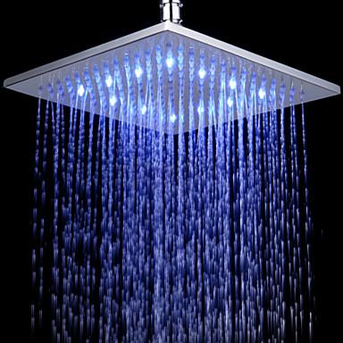 Contemporain douche pluie chrome fonctionnalit for effet pluie led pomme d - Pomme de douche a led ...