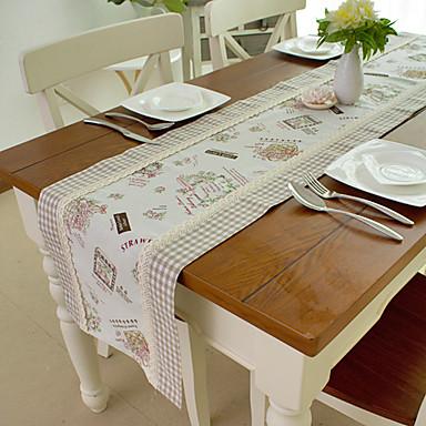 Camino de mesa de mezcla de algod n lino estilo for Camino mesa moderno