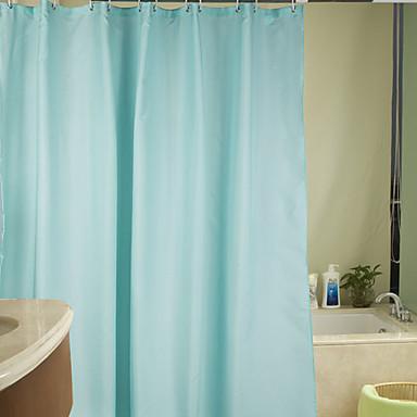 rideau de douche en polyester solide bleu clair r sistant l 39 eau paisse de tissu 2 tailles. Black Bedroom Furniture Sets. Home Design Ideas