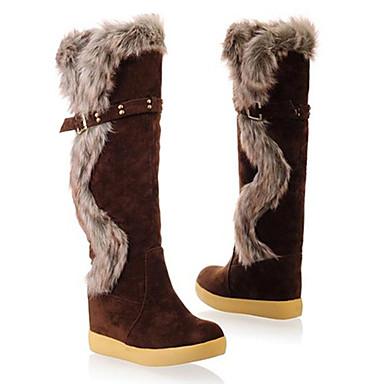 s knee high buckle fur boots 840031 2017 43 99