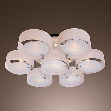 FINSTERWALDE - Lampadario moderno in acrilico in cromo con 7 lampadine del 21...