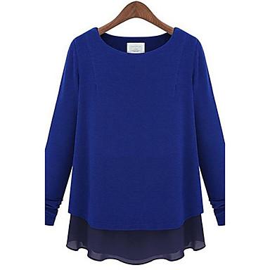 Model Baju Casual Wanita Lengan Panjang Warna Biru