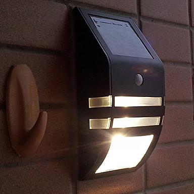 Modern PIR Motion Sensor Solar LED Wall Light Garden Wall Light USD