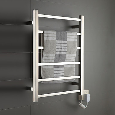Towel warmer stainless steel wall mounted 680 x 530 x for Porte serviette mural ikea