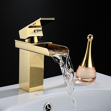 Rubinetti lavandino bagno tradizionale di ottone cascata ti pvd del 2016 a - Rubinetti bagno ottone ...