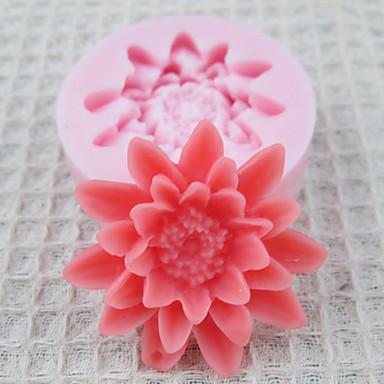 Uno Flores Agujero de molde de silicona Fondant Moldes Azúcar Craft