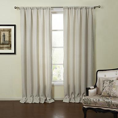 n oclassiques deux panneaux solide blanc cass rideaux de lin salon opaques de 1039845 2016. Black Bedroom Furniture Sets. Home Design Ideas