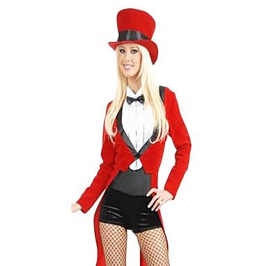 Festa di Carnevale Costume da Circo Sexy Trainer donne Red Poliestere ...