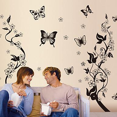 Flores y mariposas extra bles decoraci n de pared - Decoracion con mariposas ...