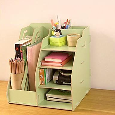 Diy multifuncional madera s lida organizador de escritorio - Organizador escritorio ...
