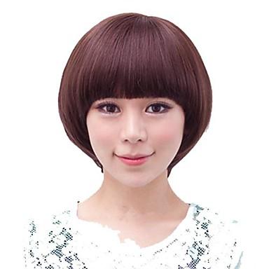 Mushroom Hairstyle mushroom cut bowl cut Short Synthetic Full Bang Wig Mushroom Hairstyle 3 Colors Available 1094594 2017 1379