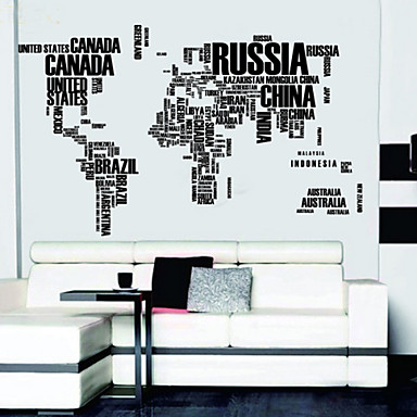 lettres carte du monde stickers muraux stickers muraux amovibles de 1064454 2017. Black Bedroom Furniture Sets. Home Design Ideas