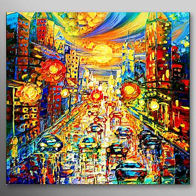 Dipinta a mano paesaggi un pannello tela hang dipinto ad for Quadri dipinti a mano paesaggi