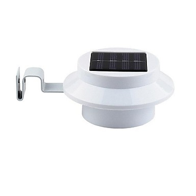 Cl ture 3 led solaire gutter lumi re cour jardin ext rieur for Lumiere exterieur applique