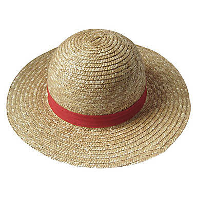 hat cap inspired by one piece monkey d luffy anime cosplay accessories hat yellow straw rope. Black Bedroom Furniture Sets. Home Design Ideas