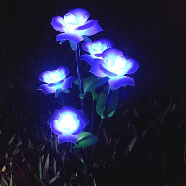 Led solaire lumi re de pelouse jardin lumi re fleur de for Lumiere led jardin