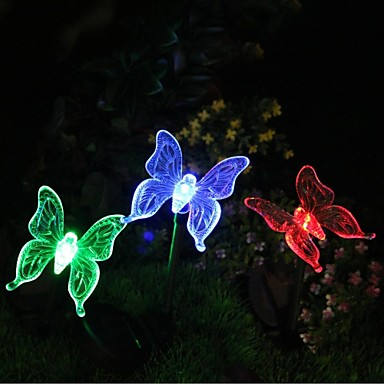 Solar Color Changing Butterfly Garden Stake Light 1307868