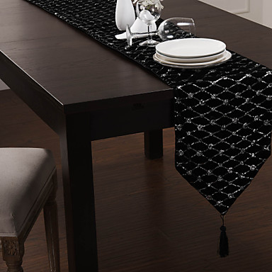 Modern Embellished Table Runner With Tassel Usd