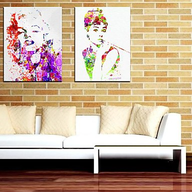 leinwand kunst menschen marilyn monroe und audrey hepburn set von 2 1391721 2016. Black Bedroom Furniture Sets. Home Design Ideas