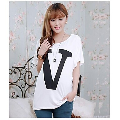 Pregnant Women Fashion Batwing Top Clothes Maternity Letter V Printed