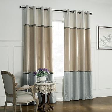Dos paneles neocl sicos sal n s lida cortinas de paneles - Cortinas de moda para salon ...